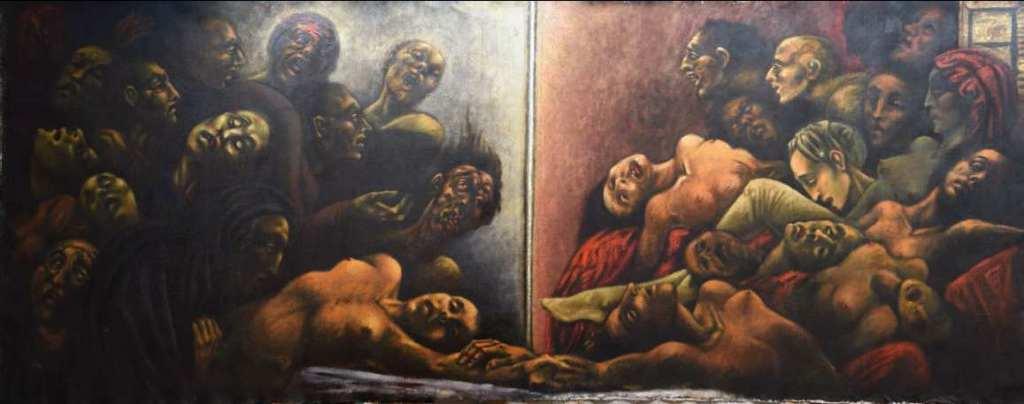 pintura Eros y Tánatos